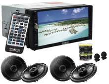 Load image into Gallery viewer, Absolute DD-3000 7-Inch Double Din Multimedia DVD Player With 2 Pair Pioneer TS-G1645R 6.5 Speakers And Free Absolute TW600 Tweeter