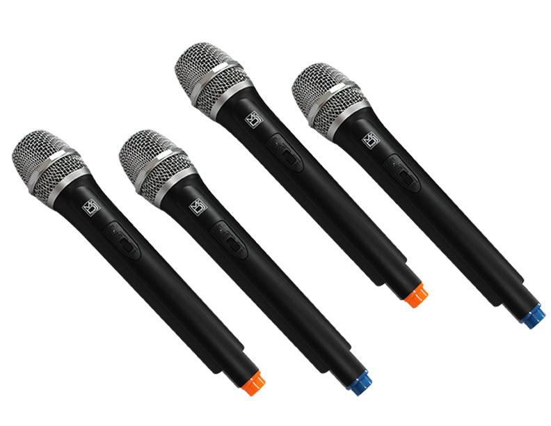 Mr Dj MICVHF-8500 <br>4 Channel Professional PA/DJ/KTV/Karaoke VHF Handheld Wireless Microphone System with Digital Receiver