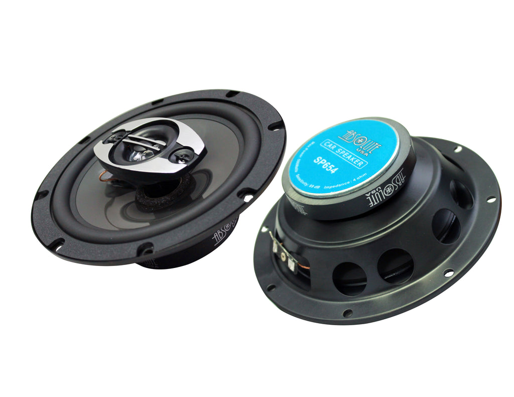 Fits Toyota Tacoma 2005-2015 Rear Door Factory Replacement Absolute SP654 Speakers + Absolute TW600