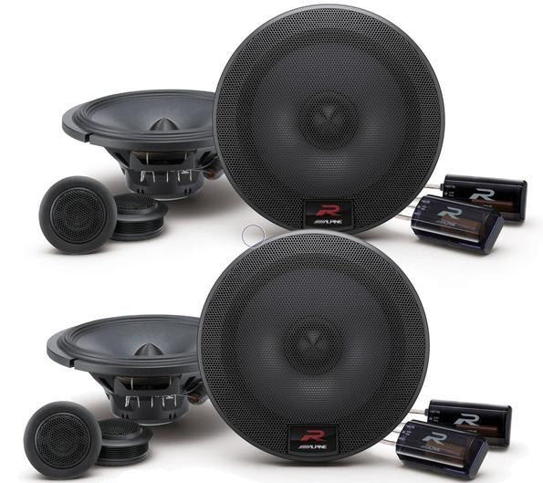 "2 Alpine R-S65C.2 Component System<br/>300W MAX, 100W RMS 6.5"" R-Series Component 2-Way Speakers"