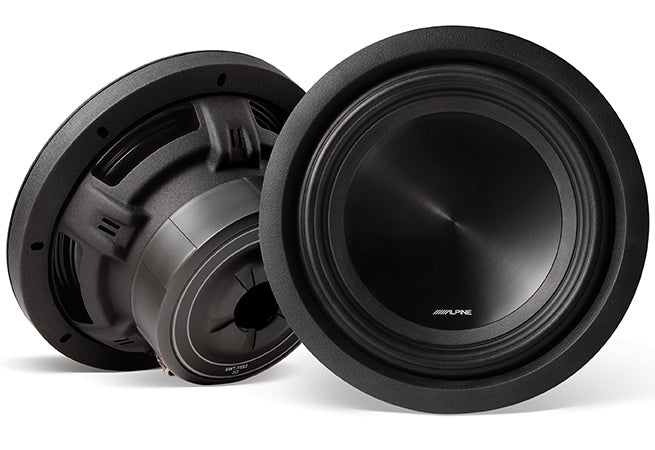 "2 Alpine SWT-10S2 Car Subwoofer<br/> 1000W Peak 10"" SWT Series Single 2-ohm Shallow Mount Subwoofer"