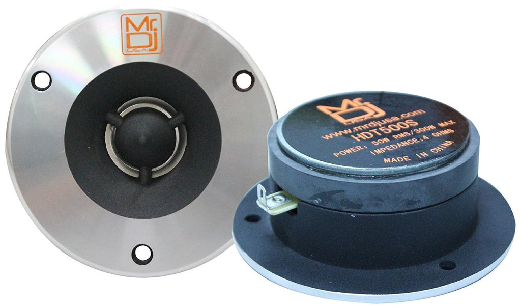 Mr. Dj HDT500S Pair 4-Inch Titanium Bullet High Compression Tweeter with 54 Ounce Ferrite Magnet