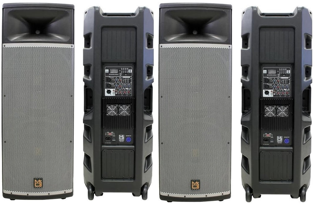 "2 Mr Dj PRO215BT PA DJ Powered Speaker<br>Professional PRO PA DJ Dual 15"" 3-Way Full-Range Powered/Active DJ PA Multipurpose Live Sound Loudspeaker"