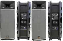 "Load image into Gallery viewer, 2 Mr Dj PRO215BT PA DJ Powered Speaker<br>Professional PRO PA DJ Dual 15"" 3-Way Full-Range Powered/Active DJ PA Multipurpose Live Sound Loudspeaker"