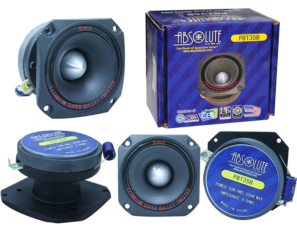 Absolute USA PBT35B 3.5-Inch Titanium Bullet High Compression Tweeter with 10 Oz Ferrite Magnet