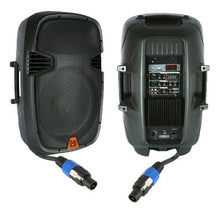 Load image into Gallery viewer, Mr. Dj PBX2610PKG 15'' 2000 Watt Max Peak Momentary Powered 2 Way Full Range Loud Speaker System Package