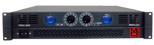 MR.DJ PROA3000 PRO SERIES POWER DJ AMPLIFIER WITH 2 CHANNELS AND 3000 WATTS PEAK MONENTARY POWER OUTPUT
