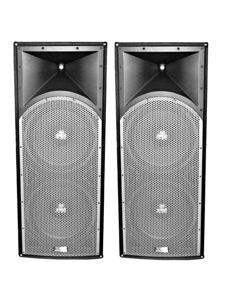 "2 Absolute PROS212 Dual 12"" 3-Way<br/> Professional Series 3000 Watts DJ PA PRO Audio Passive Speaker with Titanium Compression Driver for Live Sound, Karaoke, Bar, Church"