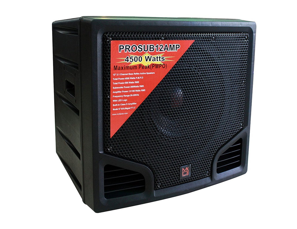 Mr. Dj PROSUB12AMP -Channel Stage Subwoofer