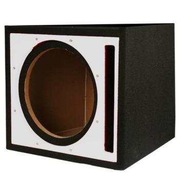 "Absolute Pseb10si (Silver/black) Single 10"" Ported Subwoofer Enclosure w/ Silver High Gloss Face Board"