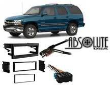 Load image into Gallery viewer, Absolute RADIOKITPKG21 Fits Chevy Tahoe 1995-2002 Single DIN Stereo Harness Radio Install Dash Kit