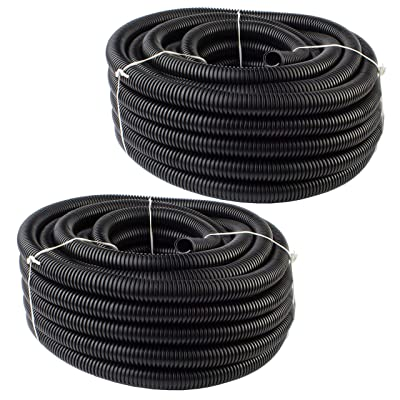 "MR DJ DSLT14 200 feet 1/4"" 200' split loom tube polyethylene pe high temperature DJ, automotive, marine, industrial electrical wire & cable conduit"
