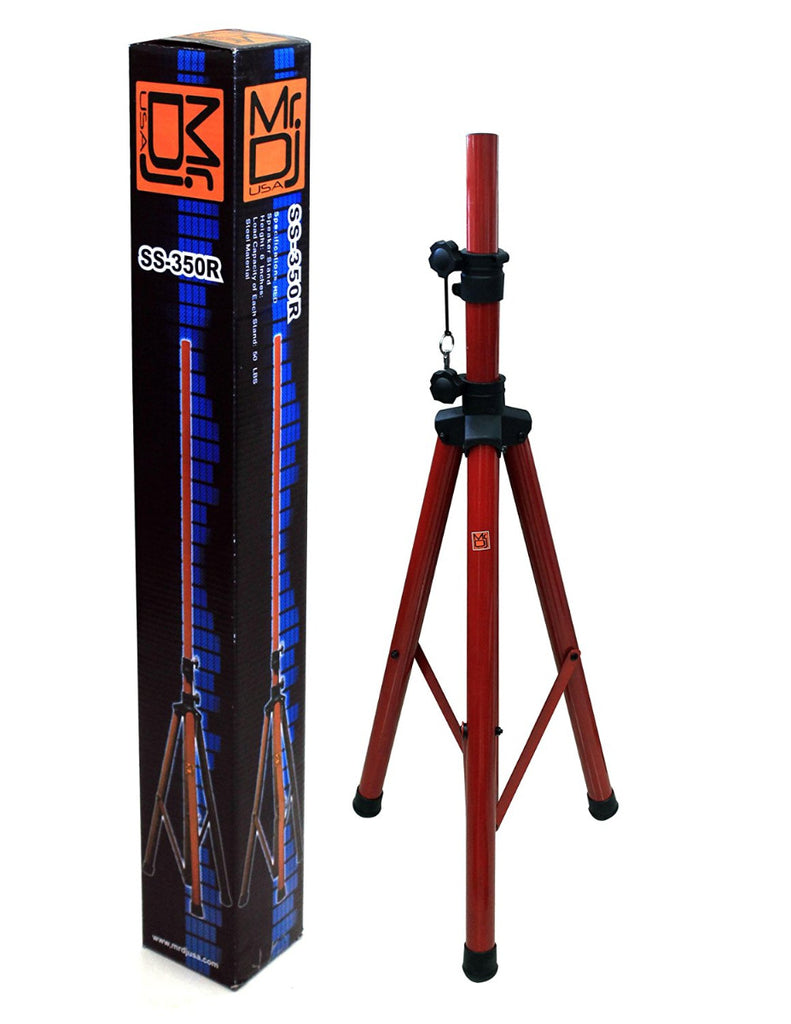 Mr. Dj SS350R RED FOLDING TRIPOD DJ SPEAKER STAND