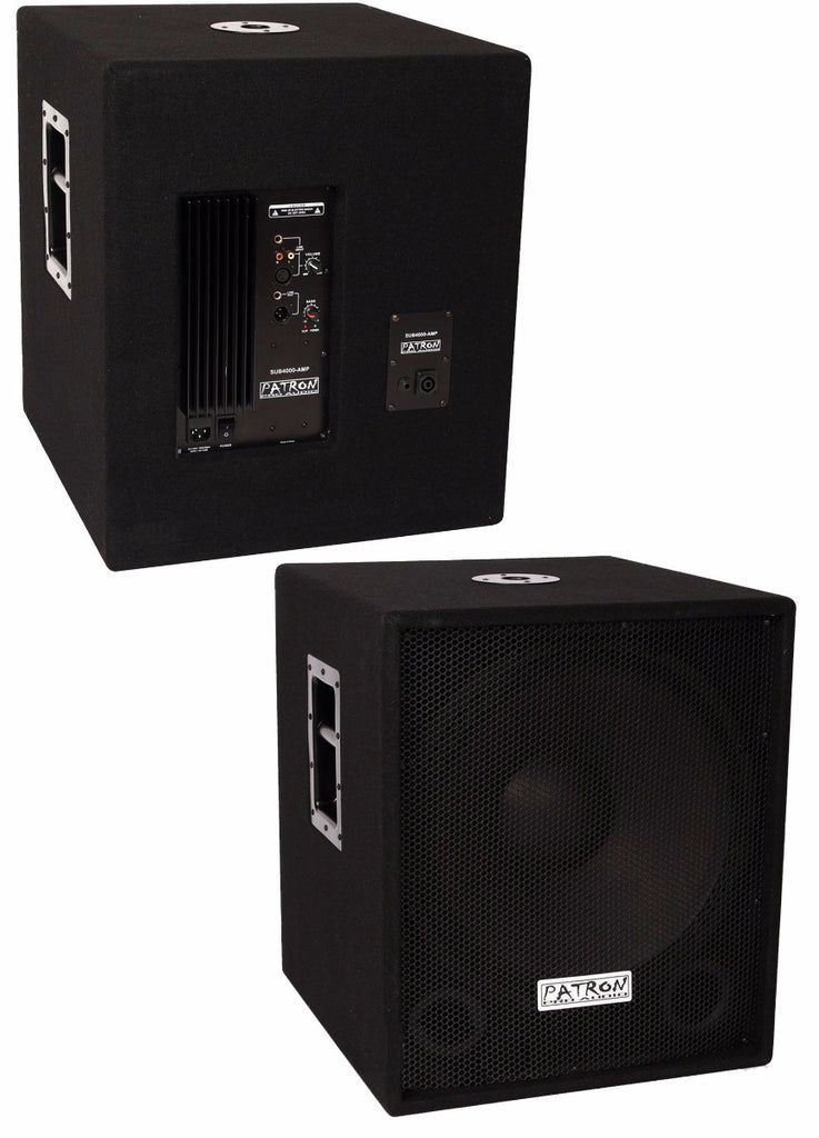 Patron PRO Audio SUB4000AMP Single 18 Inch PA DJ Club Active Bass Amplifier Subwoofer Sub Box