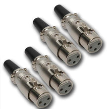 Load image into Gallery viewer, Mr. Dj XLRFH4 2 Pair XLR Female Head 3 Pin Connector Allows for Speaker Cables