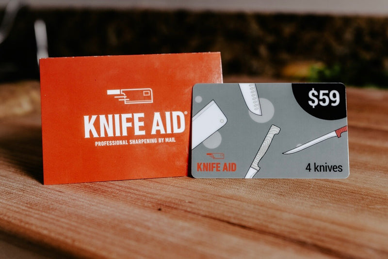 Knife Sharpening Gift Card