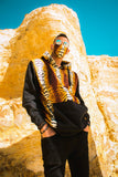 Full Leopard Black African Hoodie with 3-Ply Mask