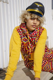 Lethu Yellow African Hoodie with 3-Ply Mask