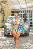 African Prisms Full 2-Piece Swimsuit Limited Edition