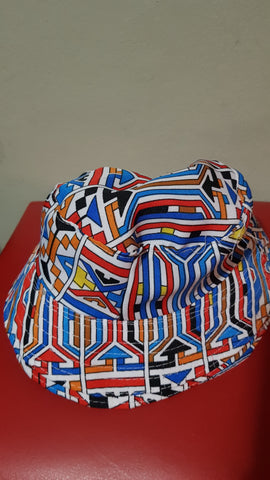 Blue Msaki Bucket Hats by Tribe Afrique