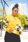 Yellow Woza Moonchild Hoodie by Tribe Afrique.