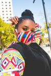 Orange Ndebele Hoodie by Tribe Afrique