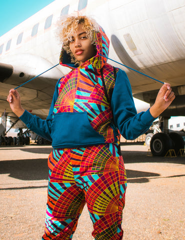 African Rainbow Hoodie by Tribe Afrique
