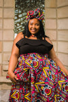Kai High Waist Skirt by Tribe Afrique (With Pockets)