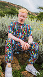 Full Ndebele Unisex African Long Shirt by Tribe Afrique