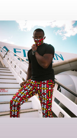 Ogya Pants by Tribe Afrique (With Matching Mask)