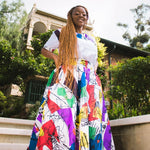 Mim High Waist Skirt by Tribe Afrique (With Pockets)
