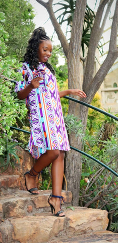 Pep Ndebele African Long Shirt by Tribe Afrique
