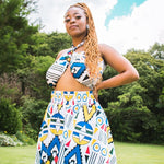Ndebele Kese High Waist Skirt by Tribe Afrique (With Pockets)