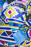 Blue Ndebele African Bomber Jackets with Mask