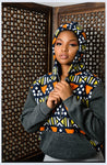 Full Piece Nkonta Hoodie by Tribe Afrique
