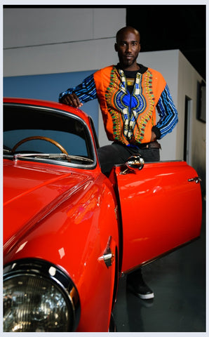 Orange Dashiki African Bomber Jackets