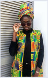 Akwaaba Kente Overcoat by Tribe Afrique.