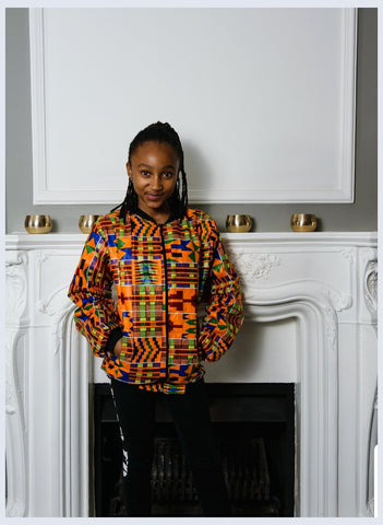 kente African Bomber Jackets - Adult