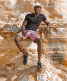 Red Ndebele African Shorts by Tribe Afrique