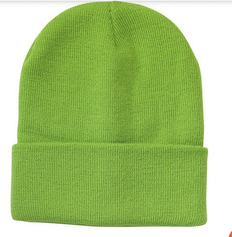 Lime Green Beanies by Tribe Afrique