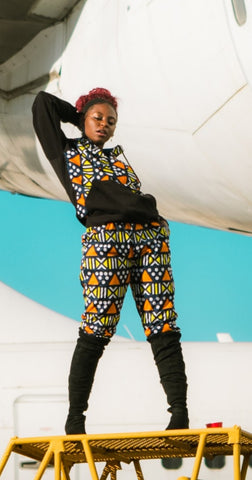 Nkonta Pants by Tribe Afrique (With Matching Mask)