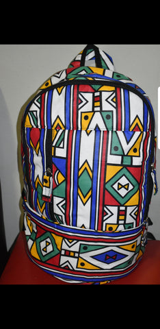 Full Ndebele Laptop Backpacks (With Mask) by Tribe Afrique