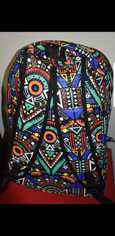 Blue Kai Laptop Backpacks (With Mask) by Tribe Afrique