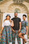 Blue Kai High Waist Skirt by Tribe Afrique (With Pockets)