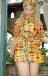 Kente Unisex African Long Shirt by Tribe Afrique