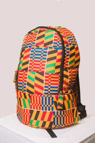 Kente Laptop Backpacks (With Mask) by Tribe Afrique