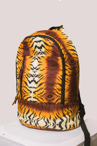 African Leopard Laptop Backpacks (With Mask) by Tribe Afrique