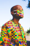 All Kente African Bomber Jackets with Mask