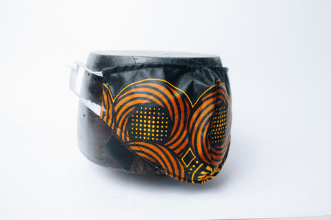 Black & Gold Mask by Tribe Afrique (Adults) - 2Ply Only.