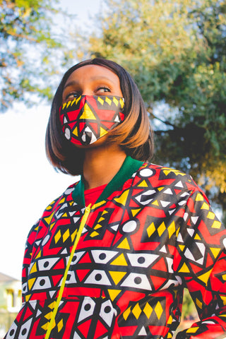 Adult- Ogya African Bomber Jackets with Mask